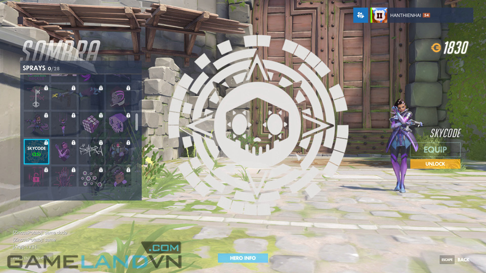 Sombra spray in Overwatch - Screenshot 34