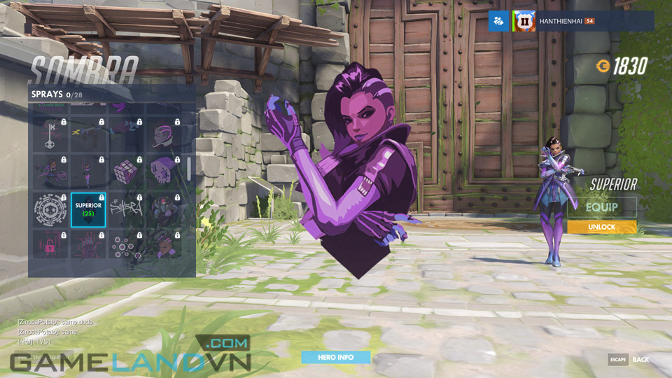 Sombra spray in Overwatch - Screenshot 35