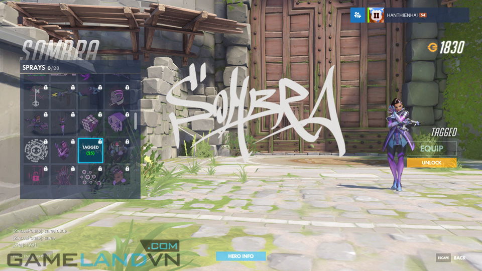 Sombra spray in Overwatch - Screenshot 36