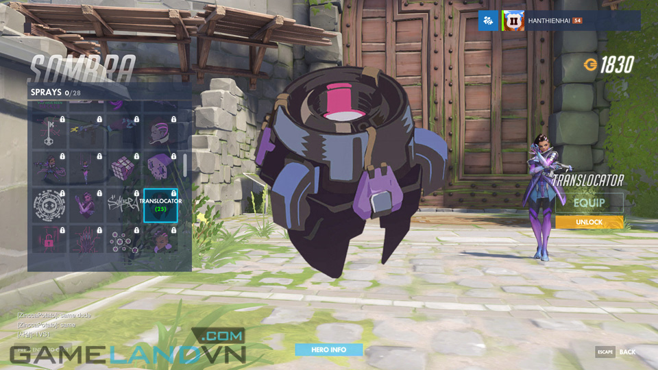 Sombra spray in Overwatch - Screenshot 37