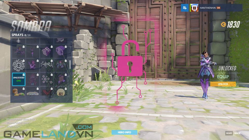 Sombra spray in Overwatch - Screenshot 38