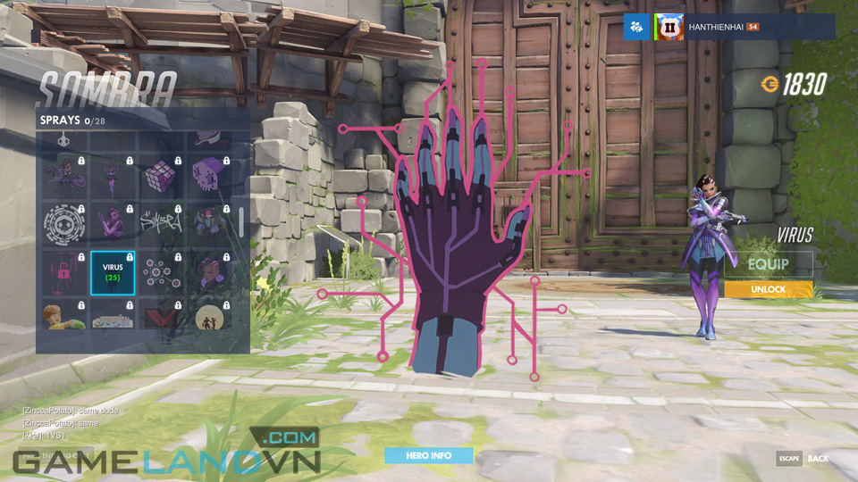 Sombra spray in Overwatch - Screenshot 39