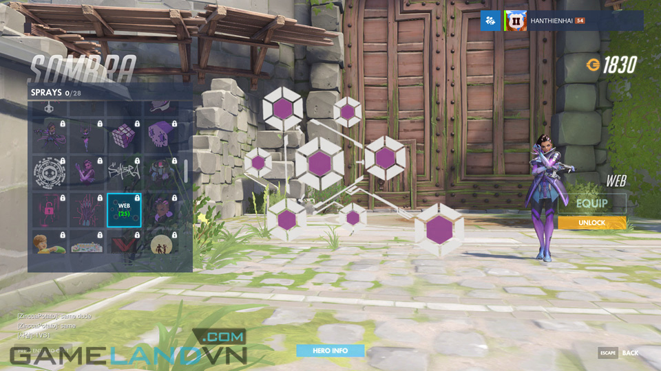 Sombra spray in Overwatch - Screenshot 40