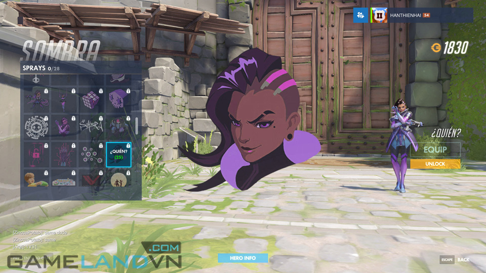 Sombra spray in Overwatch - Screenshot 41