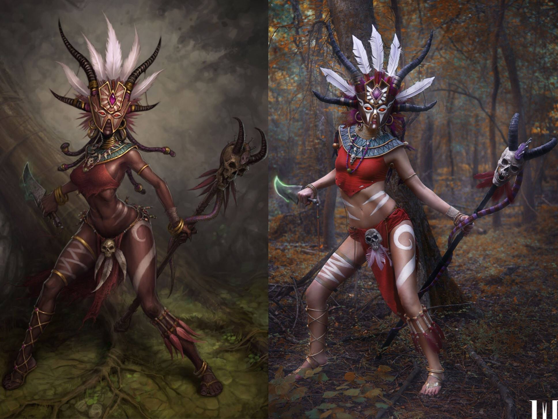 Diablo 3 Witch Doctor cosplay by Methyl Ethyl Cosplay - Photo 01