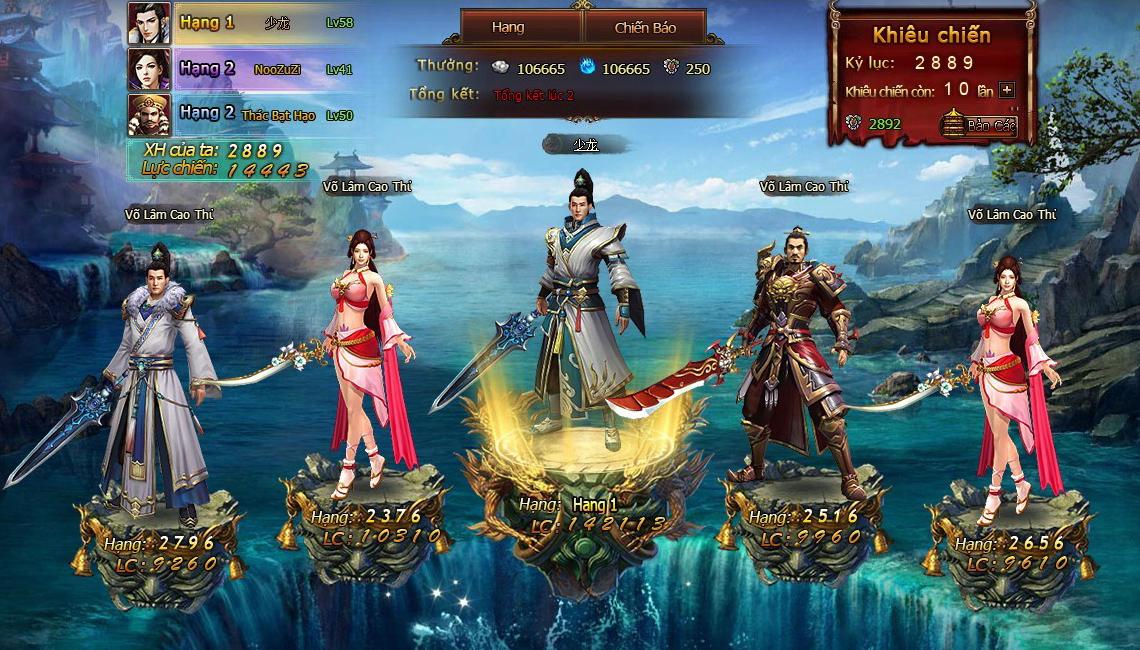 Ngắm ảnh Việt hóa của webgame Lang Gia Bảng 1