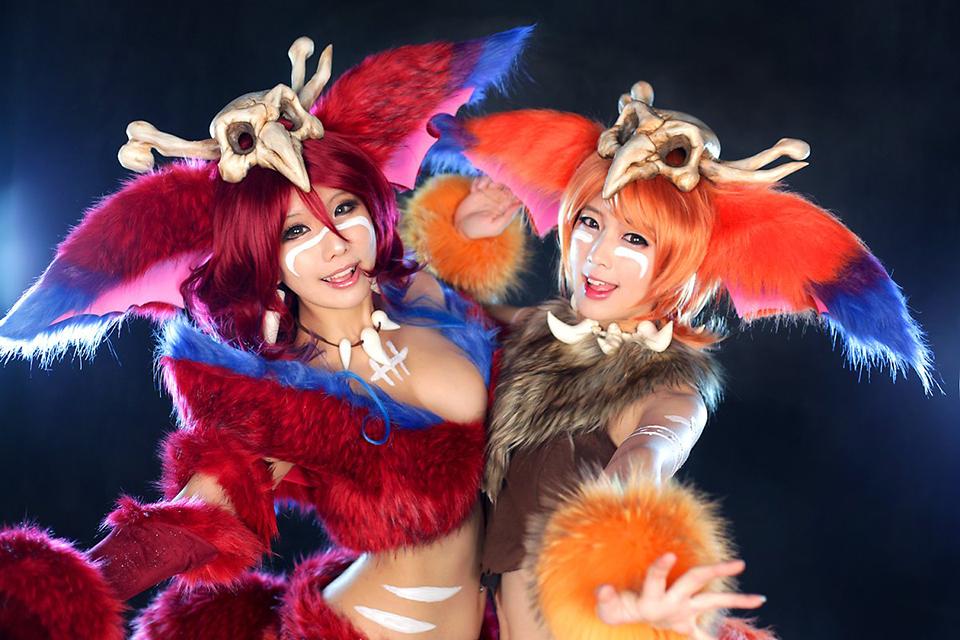 Ngắm cosplay Gnar cực đáng yêu của Tasha và Doremi