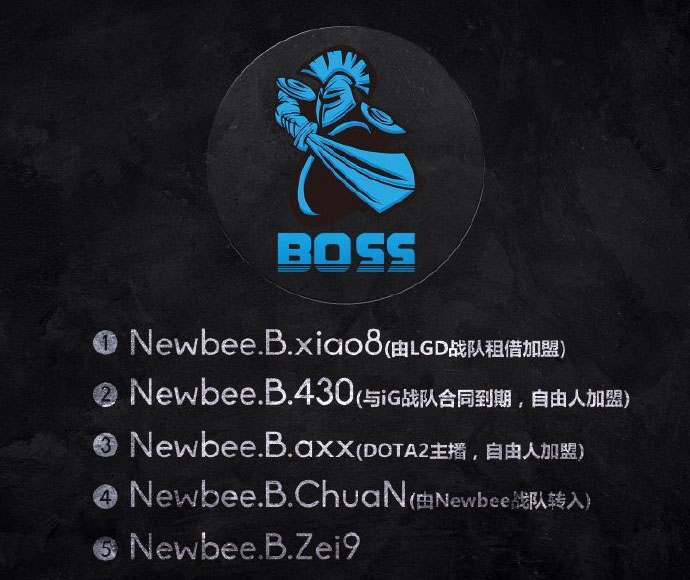 Xiao8 gia nhập Newbee thành lập Newbee Boss