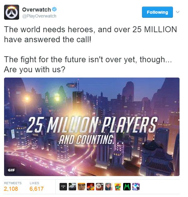 Overwatch cán mốc 25 triệu người chơi