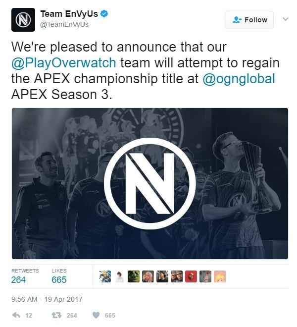 Team EnVyUs và Rouge tham dự Overwatch APEX Season 3 - Ảnh 1