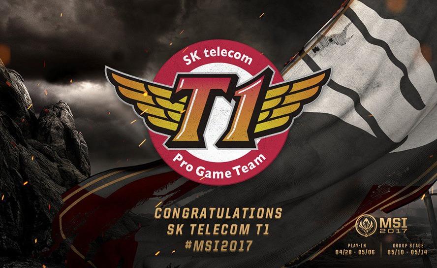 SK Telecom T1 là đại diện của Hàn Quốc tham dự MSI 2017