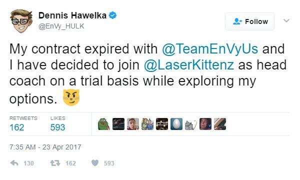Thông báo rời Team EnVyUs của INTERNETHULK