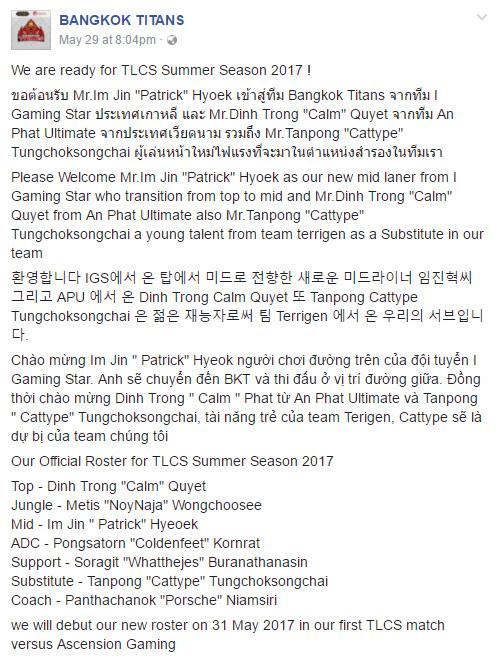 BKT công bố ngoại binh Hàn Quốc và Việt Nam