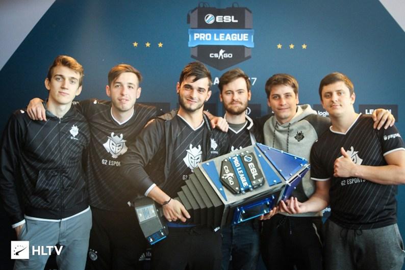 G2 Esports nâng cúp vô địch ESL Pro League Season 5.