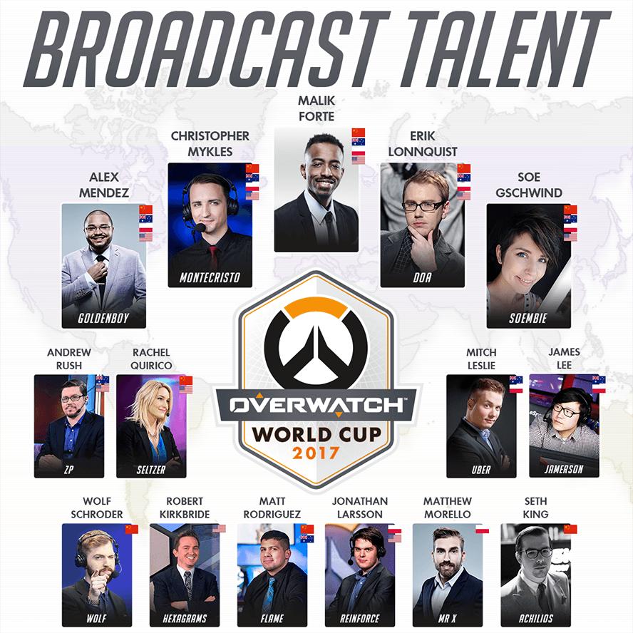 Các BLV của Overwatch World Cup 2017 lộ diện