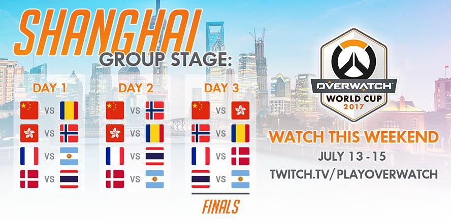 Lịch thi đấu vòng bảng Overwatch World Cup 2017 - Thượng Hải