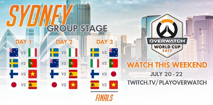 Lịch thi đấu vòng bảng Overwatch World Cup 2017 - Sydney