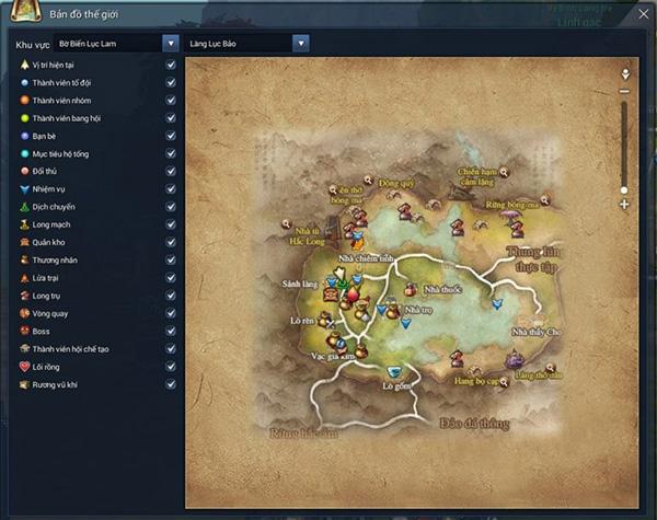 Bản đồ thế giới Blade & Soul