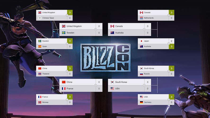 Lịch thi đấu và kết quả Playoffs Overwatch World Cup 2017