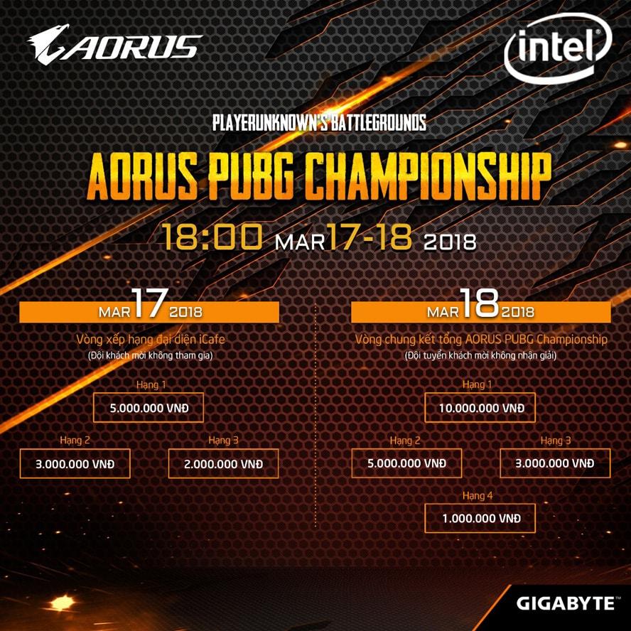 GIGABYTE công bố AORUS PUBG Championship