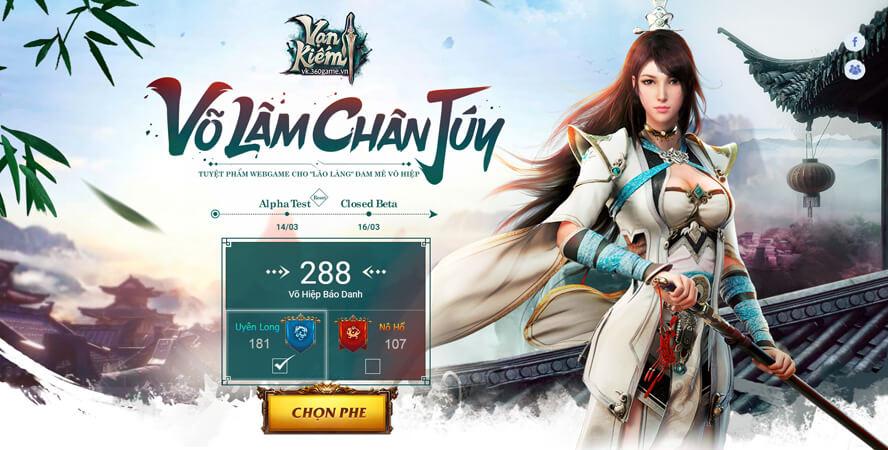 VNG công bố webgame mới Vạn Kiếm