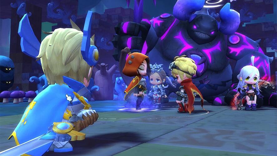Một cảnh chiến đấu trong MapleStory 2
