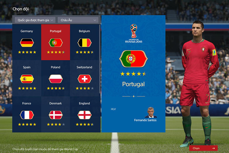 Chế độ World Cup trong FIFA Online 4