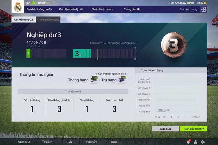 Chế độ đội bóng trong mơ trong FIFA Online 4