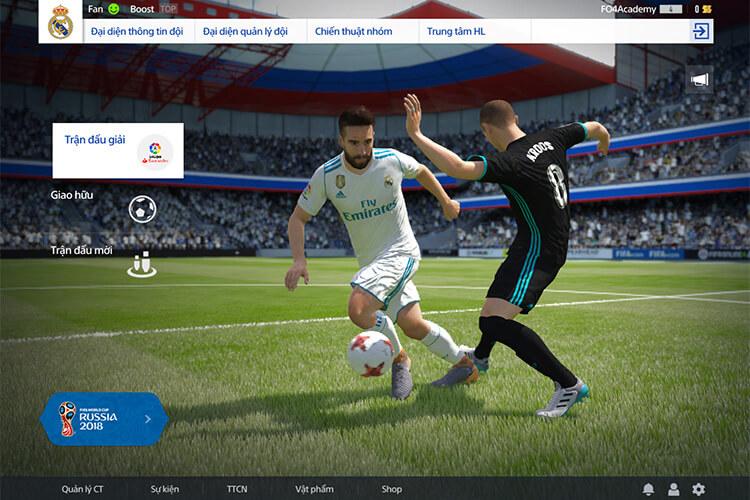 Chế độ giao hữu trong FIFA Online 4