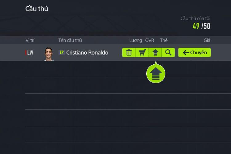 Nâng cấp cầu thủ trong FIFA Online 4