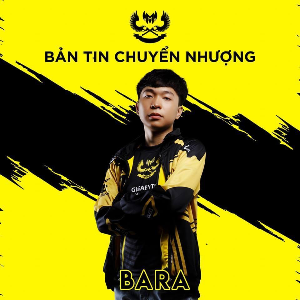 Bara rời GAM Esports gia nhập Cherry Esports