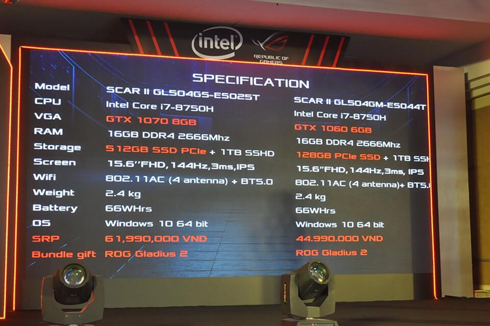 ROG Strix SCAR II ra mắt tại Việt Nam