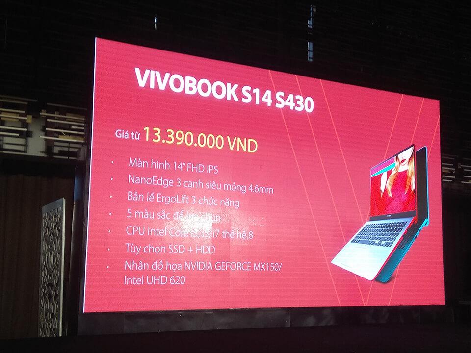 Giá bán VivoBook S14 tại Việt Nam