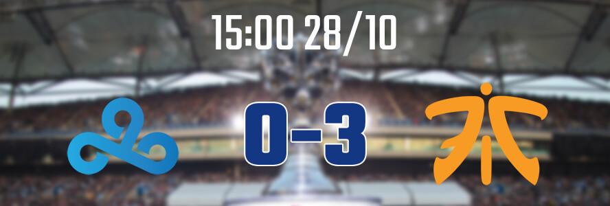 15:00 28/10 – C9 0-3 FNC