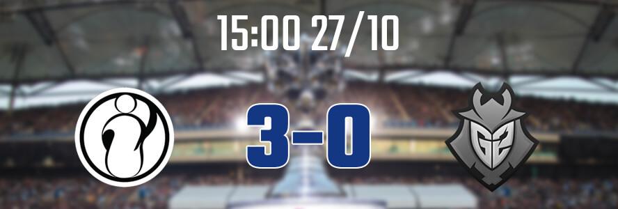 15:00 27/10 – IG 3-0 G2