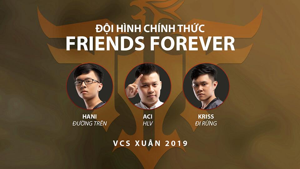 Đội hình FFQ tại VCS Mùa Xuân 2018
