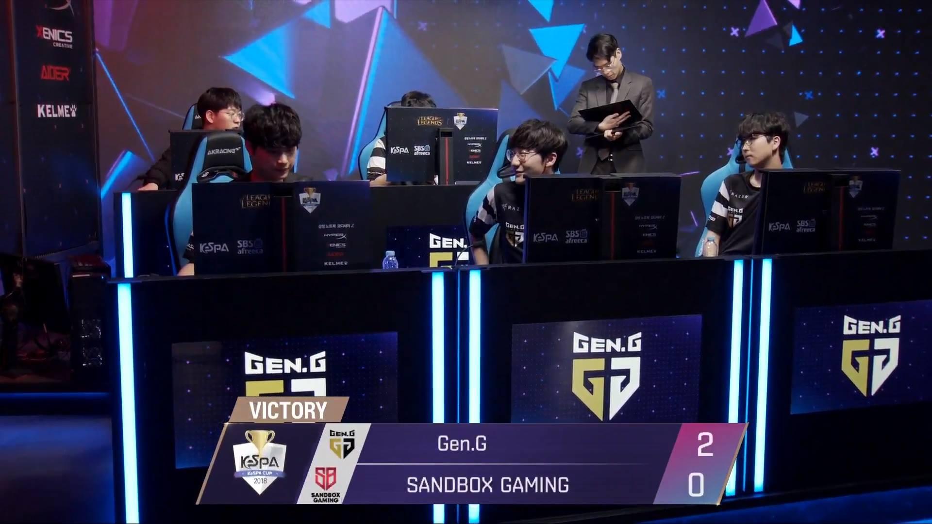 KeSPA Cup 2018: GEN vs SB