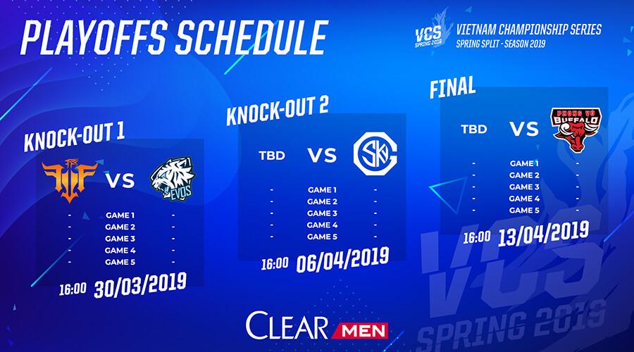Lịch thi đấu vòng chung kết VCS Mùa Xuân 2019