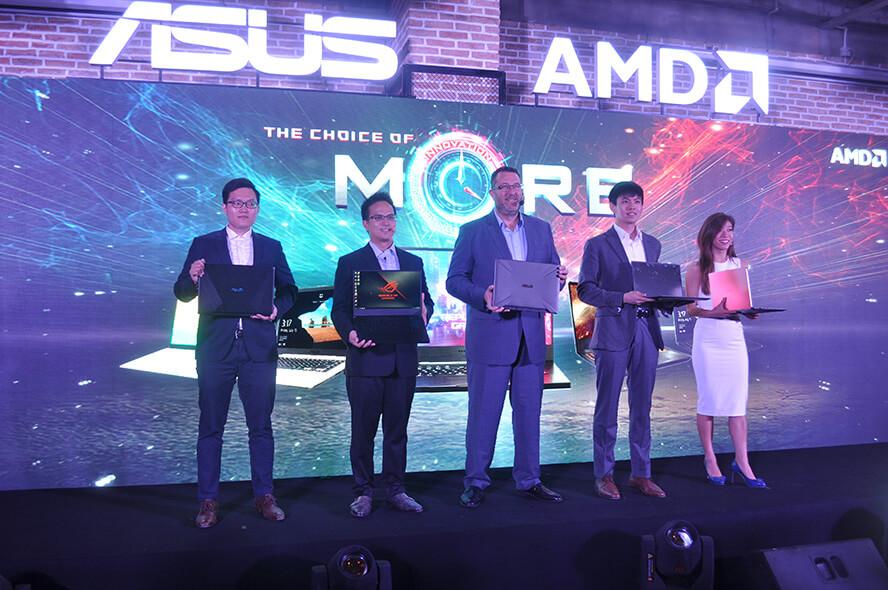 Đại diện ASUS Việt Nam và AMD trong lễ công bố hợp tác vào chiều ngày 13/05/2019