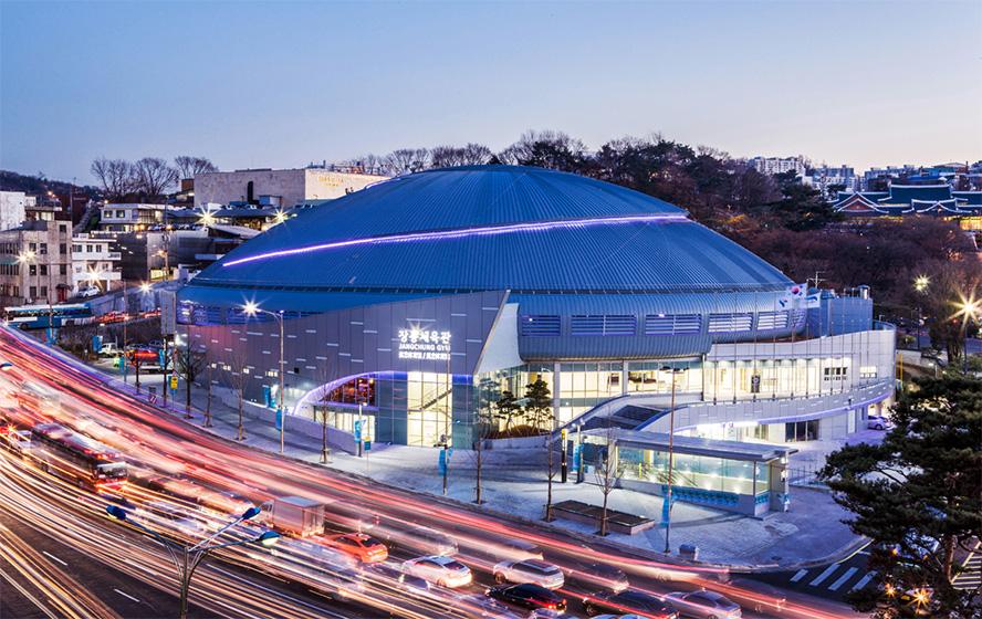 Nhà thi đấu Jangchung Seoul