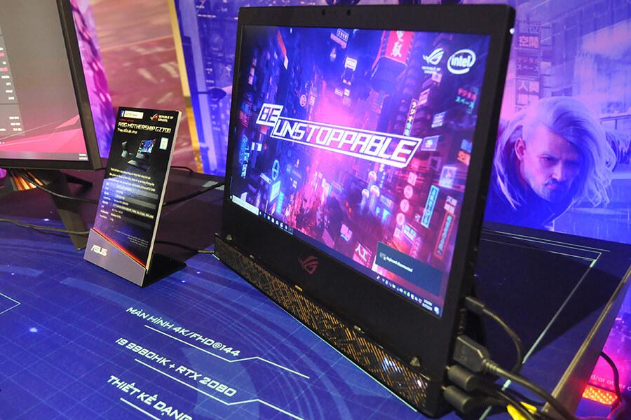 ROG Mothership có thiết kế dạng đứng khác với các mẫu laptop truyền thống.