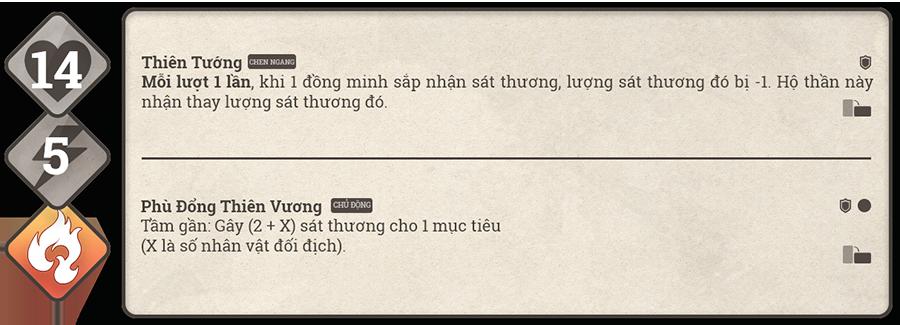 Danh sách hộ thần game Sử Hộ Vương 140