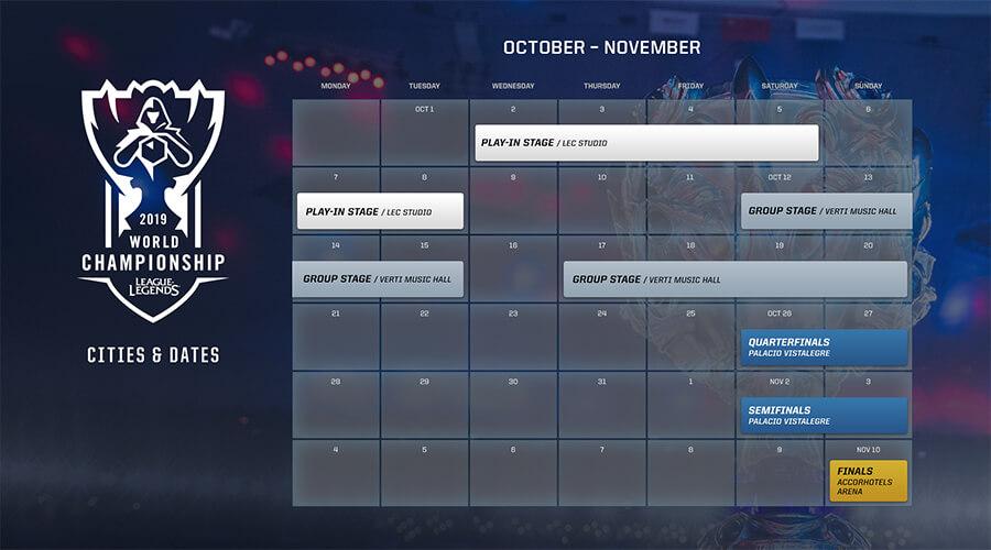 Riot Games công bố lịch trình chi tiết của CKTG 2019