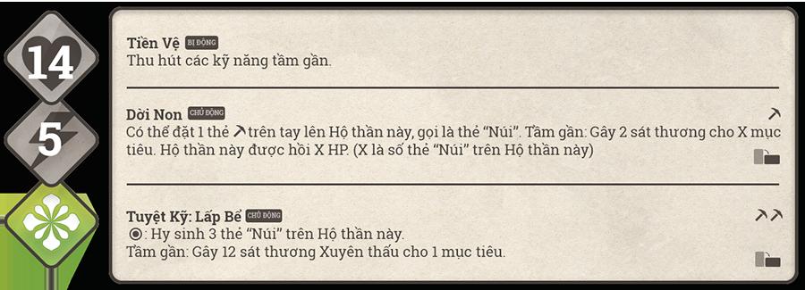 Danh sách hộ thần game Sử Hộ Vương 88