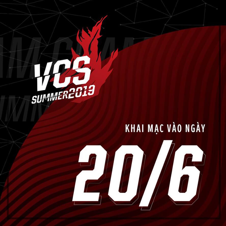 VCS Mùa Hè 2019 dời ngày khai mạc sang 20/06/2019