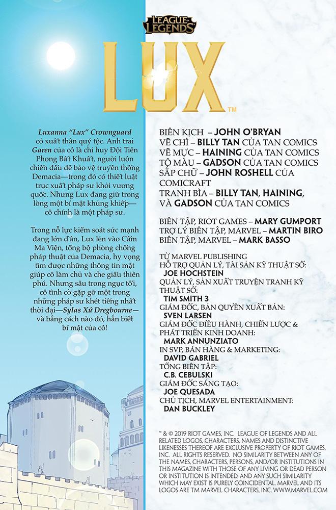 Truyện tranh Liên Minh Huyền Thoại - Lux Kỳ 3 - Trang 2