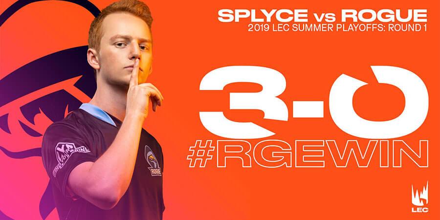 Kết quả trận đấu giữa RGE và SPY.