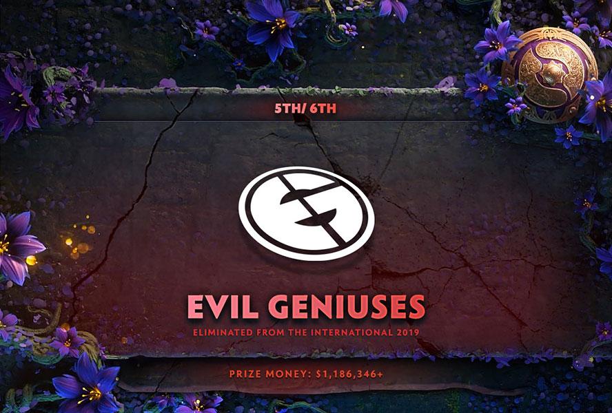 Evil Geniuses dừng chân tại top 6 TI9