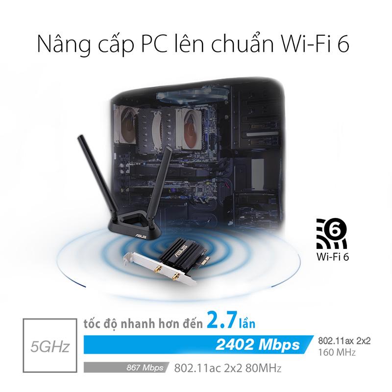 Card mạng Wi-fi 6 PCE-AX58BT