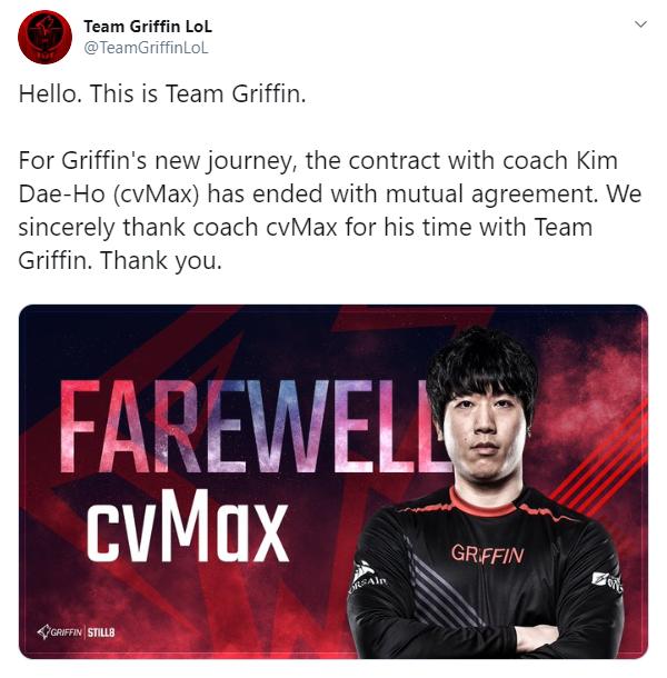 Griffin trảm HLV trưởng cvMax vì bất đồng nội bộ